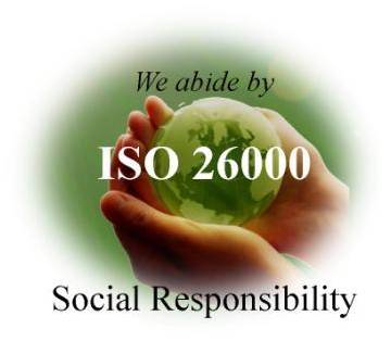 We abide by ISO 26000